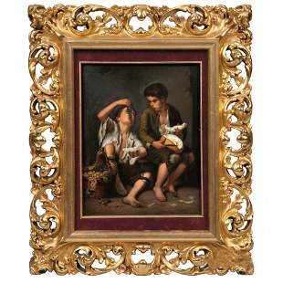 Kpm Porcelain Plaque Depicting Boys