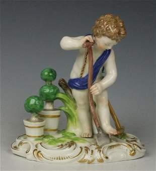 """19Th C. Meissen Figure """"Earth"""""""