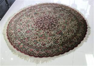19Th Century Qum Silk Rug