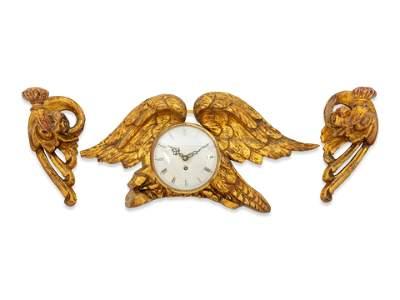 A Continental Giltwood Wall Clock