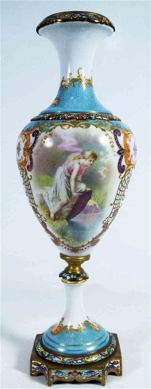 Sevres Porcelain & Gilt Mounted Urn