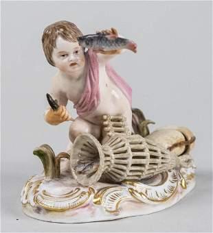 Meissen Hand Painted Porcelain Figure
