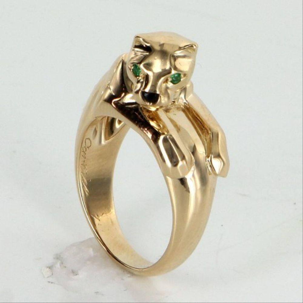 Authentic Vintage Cartier Panthere Ring 18K Yellow