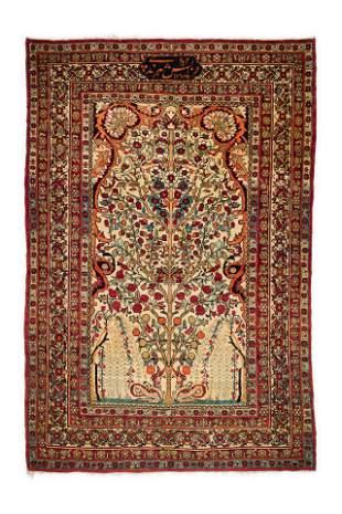 Antique Ravar Kirman 214 X 143 Cm
