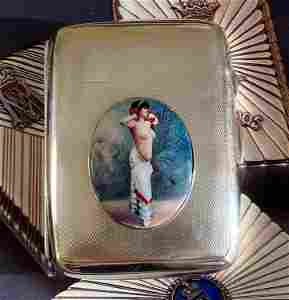 Antique British Erotic 1920s Nude Lady Dancing Sterling