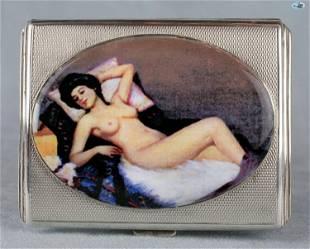 Antique British Erotic 1920s Nude Sleeping Lady Sterlin