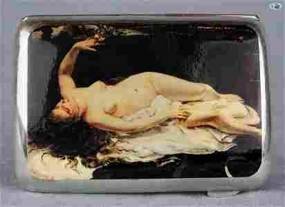 Antique British Erotic 1920s Nude Sleeping Lady with Ea