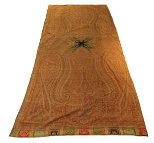 Antique Victorian Paisley Women's Jacquard Shawl Wrap