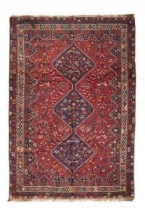 Large Antique Hand-Knotted Persian Shiraz Qashqai Triba