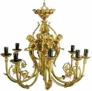 Louis XVI Style Gilt Bronze Chandelier