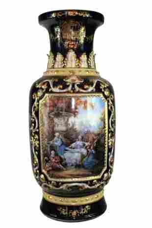 Large 19th Century Sevres Style Porcelain Vase