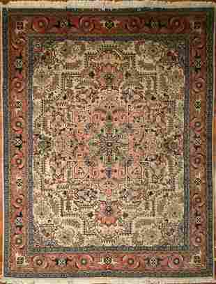 Ardebil Wool Silk Rug