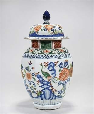 Chinese Enameled Porcelain Covered Vase