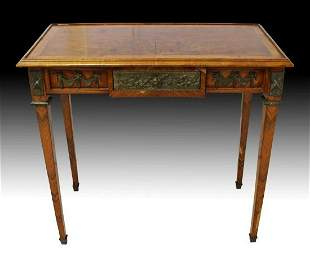 19Th C. French Louis Xv Style Writing Table