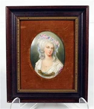 Porcelain Portrait Miniature