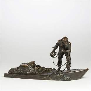 Austrian Bronze Figural Writing Stand, J. Valenta