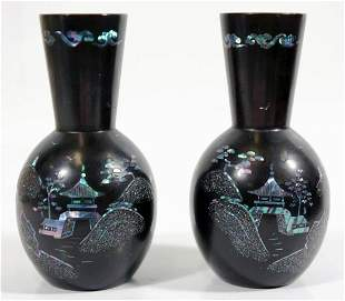Two Chinese Mixed Metal Vases