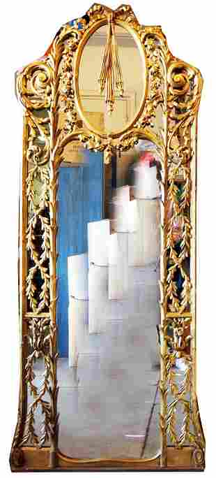Large Antique Carved Mirror