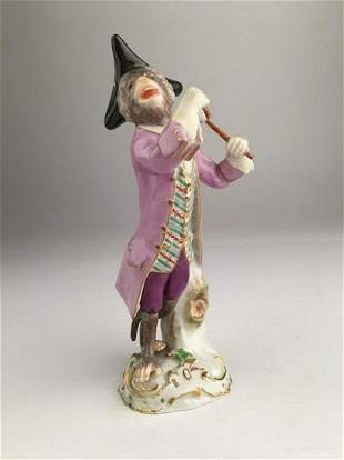Meissen Monkey Band Member With Batons