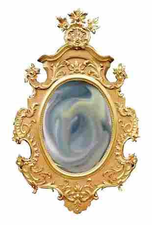 Large Gilt Carved Mirror