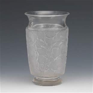 A Signed R Lalique, France Frost Vase