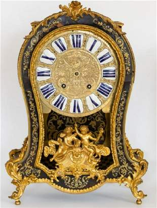 """Large 23.5"""" 19Th C. Boulle Style Gilt Metal Mounted"""