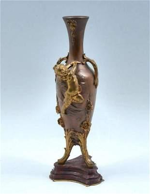 Auguste Moreau Bronze Period Vase