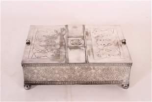 Meriden Silver Plated Humidor Box
