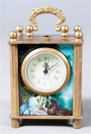 Pictoral Gilt Clock