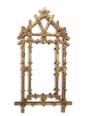 A Large Carved Giltwood Mirror