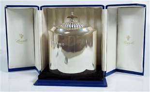 English Silver Tea Caddie In Box