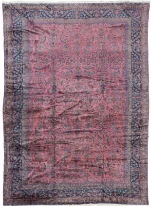 A Kashan Manchester Wool Carpet, Circa 1920 263