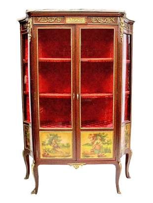 French Verne Martin Style Vitrine Cabinet