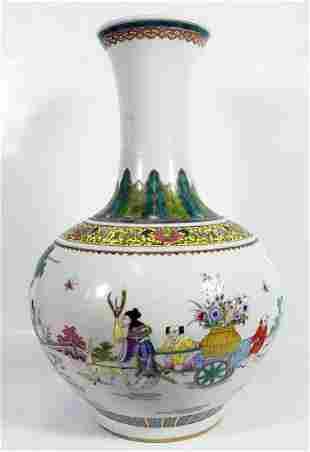 Tall Chinese Famille Verte Vase