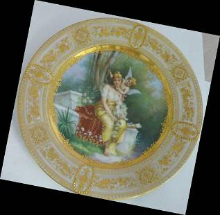 Royal Vienna Portrait Plate Angel Hand Painted