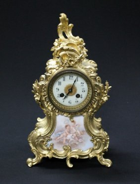 9: Late 19th century French Louis XV style dore' bronze
