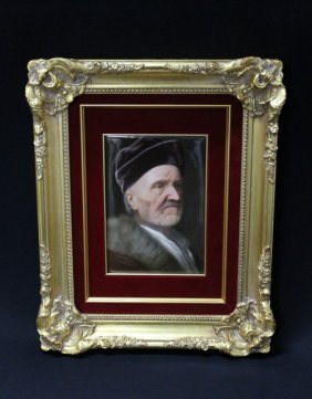 19: KPM PLAQUE Finely painted with a bust-length portra