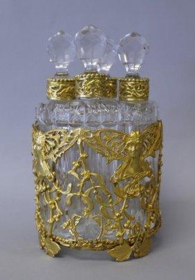 19TH CENTURY BACCARAT PERFUME BOTTLES