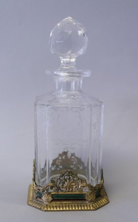 19TH CENTURY BACCARAT AND ENAMEL PERFUME BOTTLE