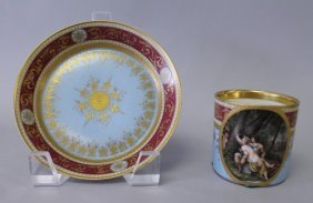 348: ROYAL VIENNA 19TH CENTURY CUP AND SAUCER