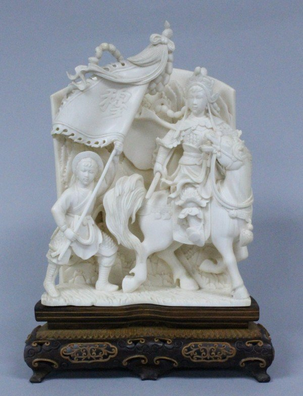 chinese antique ivory group