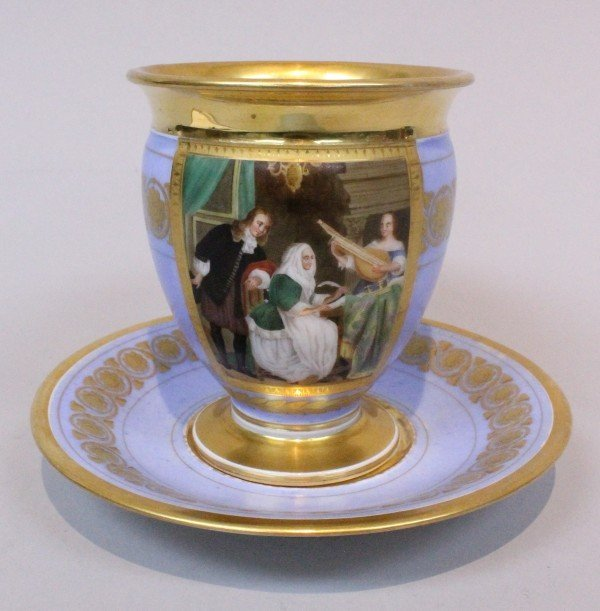 19TH C. PARIS CUP AND SAUCER
