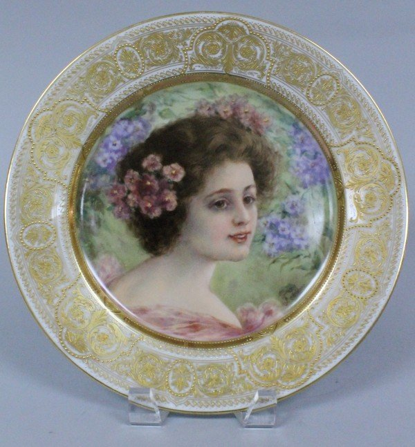 19TH C. ROYAL VIENNA STYLE PLATE