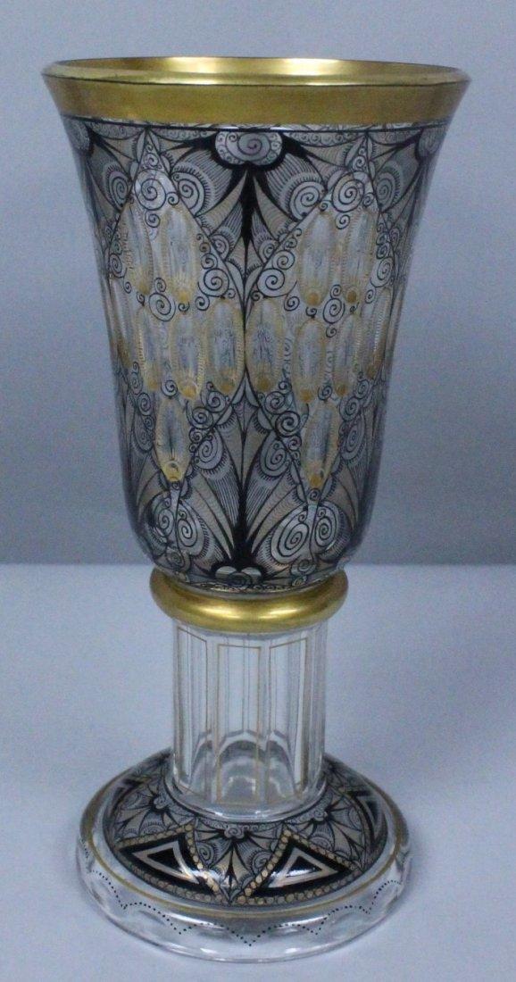 GERMAN ENAMELLED GLASS CIRCA 1900