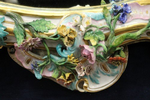 19th CENTURY MEISSEN MIRROR - 5