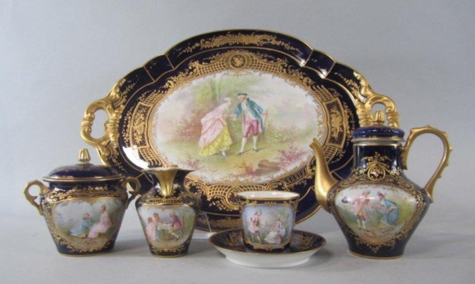 SEVRES PORCELAIN TEA SET