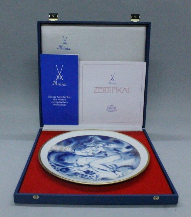 MEISSEN SHAHRZAD PLATE WITH ORIGINAL BOX