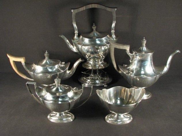 GORHAM STERLING SILVER FIVE PIECE TEA SET