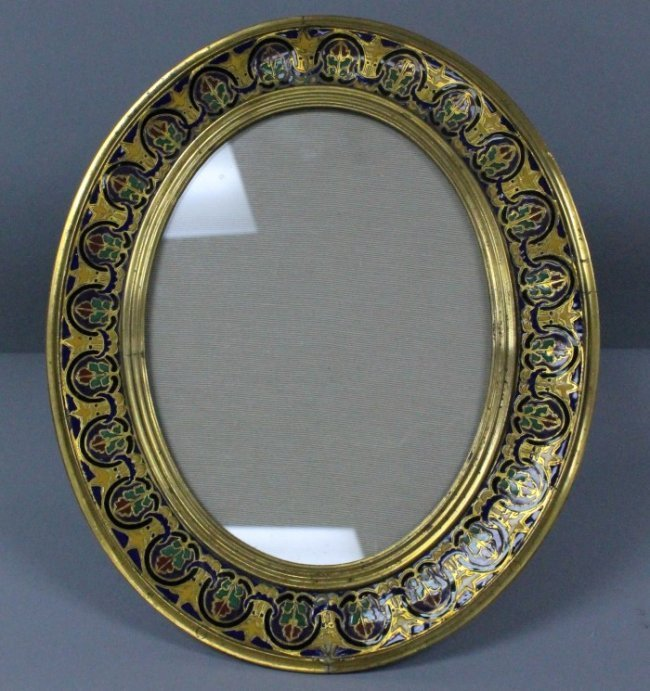 19th C. Champleve Enamelled Frame