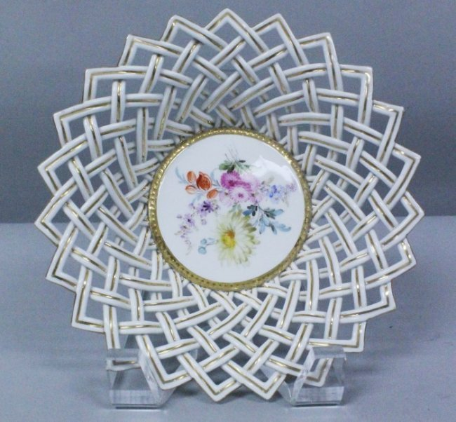19th C. Meissen Reticulated Bowl